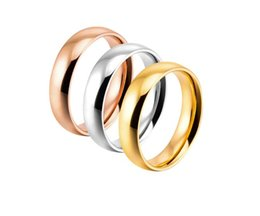 $enCountryForm.capitalKeyWord NZ - High polish wedding ring gold   silver   rose gold rings 18k gold plated never fading for men women USA size 6-14