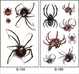 Water proof stickers online shopping - 2018 new Spider Scars Tattoos Decor Sticker Halloween Series Stickers Fake Scab Makeup Party Horror Wound Scary Water Proof Paster