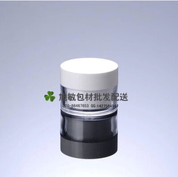 Acrylic cosmetic jAr white online shopping - 20pcs Capacity g PS Transparent white flat cap liner cream jar ounce acrylic cosmetic bottles