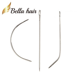 needles for hair weave UK - Sewing Hair? Weave Bella Needle J Braids Needle Hair Extension For C I Track Professional Shape Wig 12pcs Aouwd