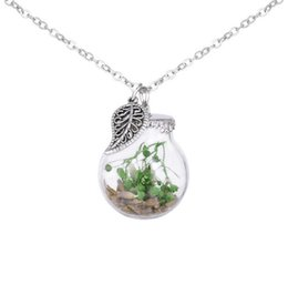 $enCountryForm.capitalKeyWord Australia - Natural dried flower ball necklace cute pendant sweater daisy chain Four-leaf clover Dripping oil lucky collar woman jewelry free shipping
