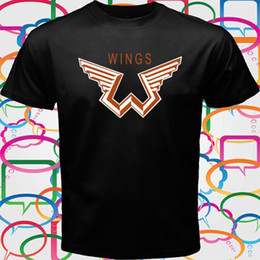 funny t shirts logos Canada - Paul McCartney and Wings Logo Men's Black T-Shirt Size S M L XL 2XL 3XL Funny free shipping Unisex Casual tee gift