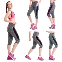 pink yoga pants NZ - High Waist Yoga Pants High Waist Comfortable Casual Fitness Yoga Sport Pants Stretch Cropped Leggings Pant Pantalon Mujer