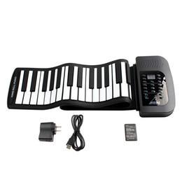 02f486e84c9 Waterproof Rechargeable Digital Keyboard Piano 61 Keys 128 Tones Portable  Flexible Electronic Roll Up Piano Built-in Speaker