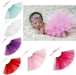 $enCountryForm.capitalKeyWord Canada - Newborn Tutu Dress With Crown Headband Set For Girls Birthday Photography Props Kids Dresses Princess Girl Clothes