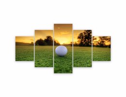 $enCountryForm.capitalKeyWord Australia - 5 Panel Canvas Modern Wall Art Golf Backgrounds Painting Posters and Artwork HD Prints Pictures Decor for Living Room Framed Y18102209