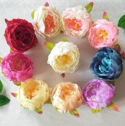 $enCountryForm.capitalKeyWord NZ - Dia 10cm Artificial Fabric Silk Peony Flower Head For Wedding Decoration Arch Flower Arrangement DIY Material Supplies