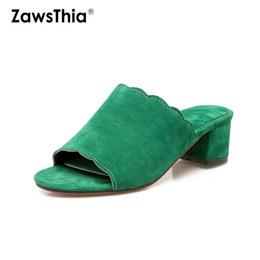 $enCountryForm.capitalKeyWord NZ - ZawsThia fashion block high heels summer green orange blue woman sandals open toe slip-on lady slippers women mules slides shoes
