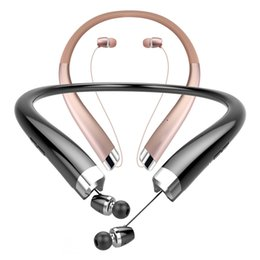 Chinese  HX-1200 Retractable Sport Stereo Neckband Headset Wireless Bluetooth Headphones CVC 6.0 Noise Cancelling Earbuds IPX5 Sweatproof Earphones manufacturers
