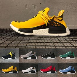 human race lighting shoes 2019 - 2018 Human Race Factory Yellow Red Black Orange Men Pharrell Williams X Running Shoes Sneakers trainer cheap human race