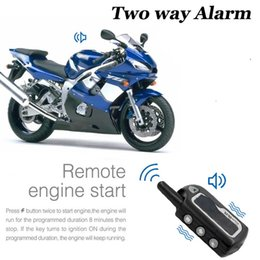 Engine Start Australia - Two Way Alarm Motorcycle Scooter Security Alarm Motorbike Dual Remote Engine Start Vibration Motor Lock Protection System