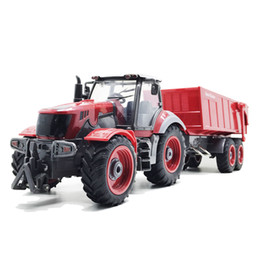 Chinese  RC Truck Farm Truck Remote Control Simulation 6 Ch 4 Wheel Tractor Auto Dumper Electronic Hobby Toys For Kids Christmas Gift manufacturers