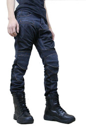 7a2e7106d95 VOLERO PK719 Locomotive jeans summer half mesh Leisure Motorcycle Jeans  With knee protector Rider pants