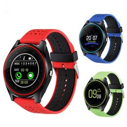 $enCountryForm.capitalKeyWord Canada - Bluetooth Smart Watch V9 With Camera Smartwatch Pedometer Health Sport MP3 Clock Smartwatch For Android IOS better than DZ09
