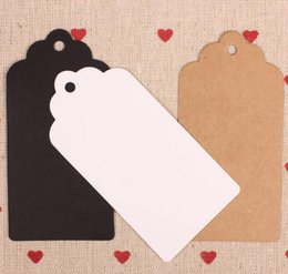 brown paper gifts Canada - Packaging Label Kraft Paper Tags DIY scallop Label Wedding Gift Decorating Tag Star Heart Shape Black White Brown