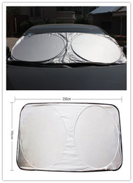 front end car UK - 150*70CM Car Sunshade Front Rear Windshield Window Foldable Sun Shade Shield Sun Visor UV Block Auto Sun Visor Windshield Block Cover 40PCS