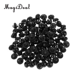 China MagiDeal 100Pcs Mushroom Button Domed Sewing Plush Animal Eyes for Baby Clothes Puppets Doll Bear DIY Craft Toy Black 10mm cheap black button eyes suppliers
