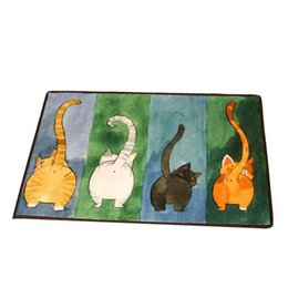 $enCountryForm.capitalKeyWord UK - Cartoon Cat Pattern Non-slip Bath Mats,Barthroom Carpet,Kitchen Floor Mats Carpets,Home Decor Doormat for Children Living Room Floor Carpet