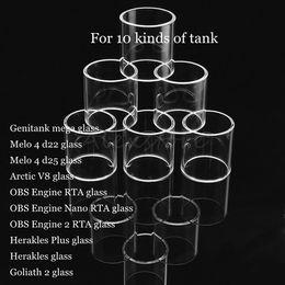 $enCountryForm.capitalKeyWord Australia - Genitank mega Melo 4 d22 d25 Arctic V8 OBS Engine 2 RTA Nano Herakles Plus Goliath II Tank Atomizer Vape Replacement Pyrex Glass Tube