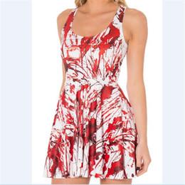 Wholesale free shipping women girl 3d digital printing love animal red  painting pleated fashion vest sleeveless dresses eca762f77f4f