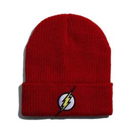 Woolen skull cap men online shopping - Lightning Thunder Pattern Beanie  Woolen Knitted Hat Man Woman a7462ef7675