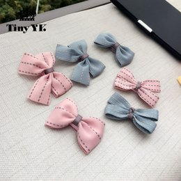 Hair Clip Cover Baby Australia - New Arrival Girl Kids Baby Bow Hairpins Bowknot Hair Clip Children Barrette Hair Accessories Full Cover Clips 10pcs