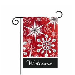 Wedding Garden Flags Online Shopping   Bulk Cm Styles Winter Scene Garden  Flags Christmas Stockings Wedding