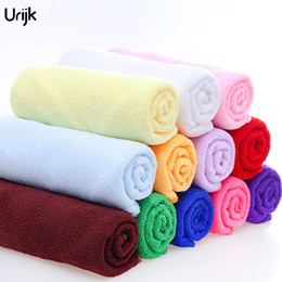 Chinese  Urijk 5PC 30*70cm Microfiber Soft Towel for Bathroom Kitchen Hand Car Cleaning Towels Fabric Quick Dry Housework Clean Car Towel manufacturers