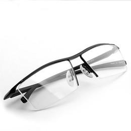 ba42d9959e0b Discount half frame titanium eyewear - 2017 new men s glasses frame  Titanium optical Half frame eyewear