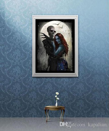figure nightmare NZ - Free Shipping Jack And Sally Meant To Be Nightmare Before Christmas Art Posters Print Photopaper 16 24 36 47 inches