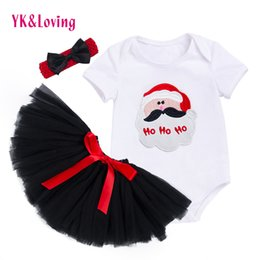 $enCountryForm.capitalKeyWord Australia - New Girl Tutu Rompers for Newborn Birthday Baby Clothes 3PC Sets Body Clothing for Reborn White Romper Black Tutu Skirts Z703