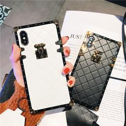 $enCountryForm.capitalKeyWord NZ - Luxury PU leather Paris fashion show Phone Case Hybrid TPU Back Case Cover for iphone XS Max XR 8 7 6 Plus