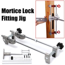 $enCountryForm.capitalKeyWord Canada - Professional Locksmith Woodworking Door Lock Mortiser Kit Hole Saw Opener Installation Mortising Jig Tool Maintenance Set