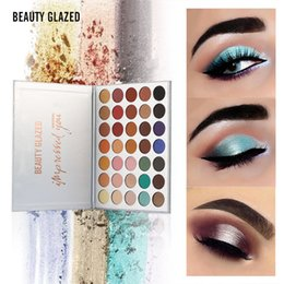 Rainbow coloR palette eyeshadow online shopping - BEAUTY GLAZED Colors Shades Eyeshadow Palette Diamond Rainbow Earth Warm Color Shimmer Matte Eyeshadow Pallete