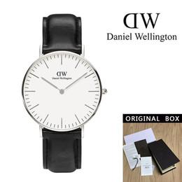 $enCountryForm.capitalKeyWord Australia - New Black face Daniel watches 40mm Men watches 36mm women watches Luxury Quartz Watch Female Clock Relogio Montre Femme watch box gift