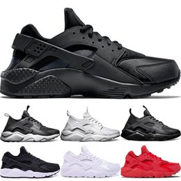 cheap huaraches shoes 2019 - Huarache Ultra Running Shoes 4.0 1.0 Men Women Triple White Core Black Red Cheap Huaraches Mens Athletic Sports Sneakers