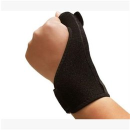 Thumb sporTs online shopping - Sport Thumb Spica Brace Support Steel Bar Binding Adjustable Sports Safety Creative Anti Wear Wrist Guard With Spring gy jj