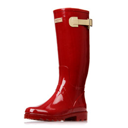 6146ff80751c 2018 New Fashion Women Shoes Punk Style Heel Riding Boots Zipper Shoes  Knight Tall Boots Women Rain Boots Large Size 41