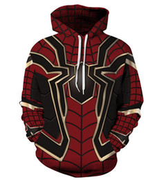 Spiderman coStume women online shopping - Hoodie Pullover Sweatshirt d Avengers Infinity War Iron Spider Halloween Sweater Spiderman Superhero men Women Unisex Cosplay Costume