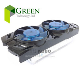 Wholesale New mm mm Hole Pitch Cooling fan For HIS hd7750 Graphics card with Aluminum Heat sinks V A