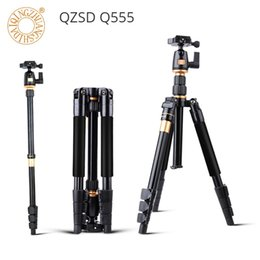 $enCountryForm.capitalKeyWord NZ - QZSD Q555 Camera Tripod Aluminium Alloy Camera Video Monopod with Quick Release Plate Stand Professional Extendable Tripod