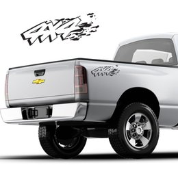 Chevy Wholesale Australia - For (2Pcs)4x4 offroad pickup truck decals gmc chevy silverado avalanche DS005