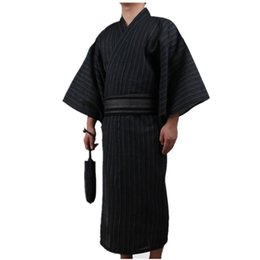 3e99d1e676 3pc set Kimono suit Traditional Japanese Male Kimono with Obi Belt Men s  Cotton Bath Robe Yukata Men s Sleepwear 82807