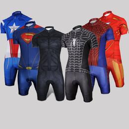 fb7509c9e Captain America 2018 men s summer short sleeve Cycling jersey bicycle  clothing ropa ciclismo Spider man Batman bike jersey bib shorts kit