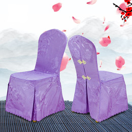 Banquet taBles chairs online shopping - Chair Covers Hotel Polyester Fiber Phoenix Flower Table Seat Meeting Exhibition Stool Set Wedding Banquet High Quality wt V