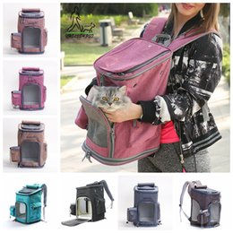Pet Dog Nylon Carrier Backpack Foldable Mesh Breathable Carrier Outdoor  Travel Shoulder Bags for Small Dog Cats Pet Handbag AAA899 82fa57466ce6