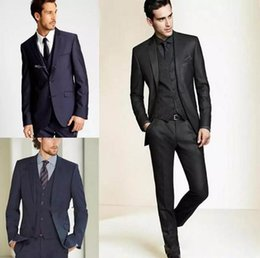 $enCountryForm.capitalKeyWord NZ - 2018 New Formal Tuxedos Suits Men Wedding Suit Slim Fit Business Groom Suit Set S-4 XL Dress Suits Tuxedo For Men (Jacket+Pants)