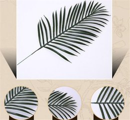 Decorations fake green online shopping - New Festive Cute Big Green Palm Leaves Plastic Fake Plant Artificial Leaf Home Office Decoration diy Hanging Artificial Leaves