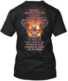 Cotton World Map Australia - A Warrior Of Christ, I Am The Storm - World Map Hanes Tagless Tee T-Shirt