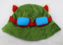 $enCountryForm.capitalKeyWord Australia - 10pcs lot League of Legends cosplay cap Hat Teemo hat Plush+ Cotton LOL plush toys Hats